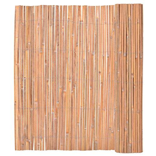 vidaXL Bambusmatte Bambus 150x400 cm Sichtschutzmatte Sichtschutz Gartenmatte