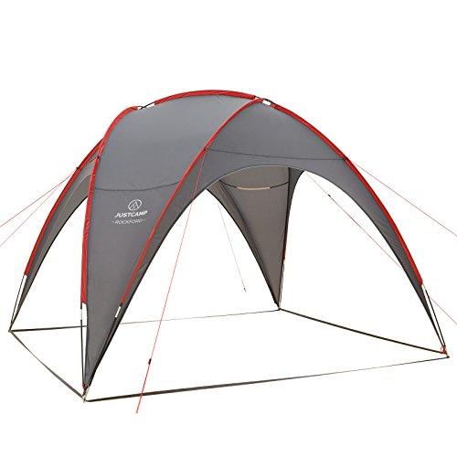 JUSTCAMP Pavillon Rockford Zelt Campingpavillon Gartenpavillon - Grau Geschützter Aufenthaltsbereich