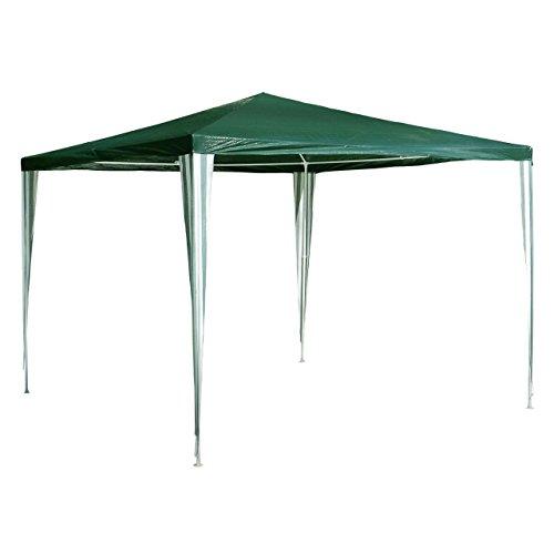 Nexos GM36002 PE-Pavillon Partyzelt für Garten Terrasse Markt Camping Festival als Unterstand und Plane wasserdicht 3 x 3 m grün