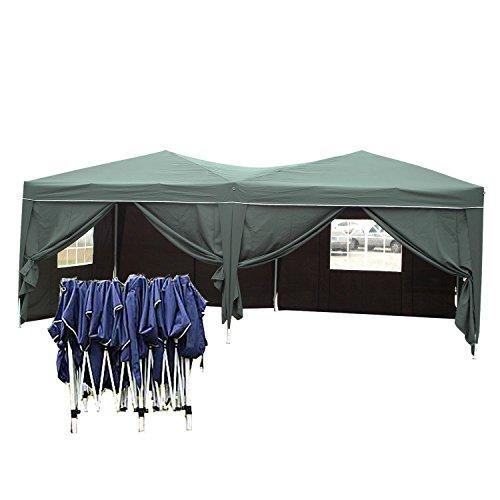 Serface Pavillon 3x6 wasserdicht Faltbar stabil aus 270g m² Polyester mit PVC-Beschichtung Pavillon Zelt Faltpavillon Festzelt Grün