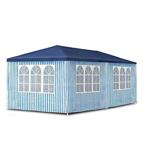 JOM Gartenpavillon 3 x 6 m Pavillon Pavillion Partyzelt Festzelt Gartenzelt mit 6 Seitenwänden 110G PE
