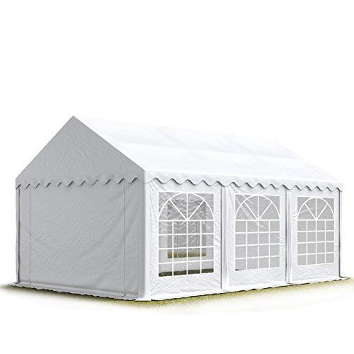 TOOLPORT Party-Zelt Festzelt 3x6 m Garten-Pavillon -Zelt 500gm² PVC Plane in weiß Wasserdicht