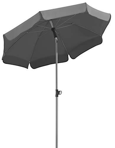 Schneider-Schirme Locarno Sonnenschirm anthrazit ca 150 cm Ø