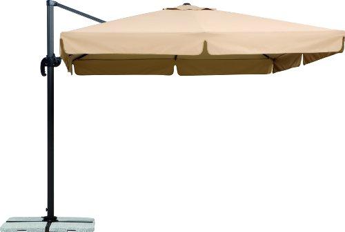 Schneider Sonnenschirm Rhodos natur 300x300 cm quadratisch Gestell AluminiumStahl Bespannung Polyester 233 kg