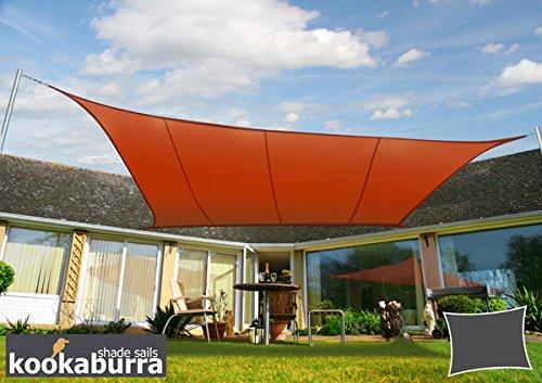 Kookaburra 50m x 40m Rechteck Terrakotta Gewebtes Sonnensegel Wasserfest