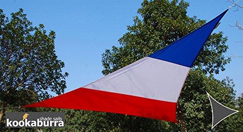 Kookaburra Wasserfest Gewebtes Sonnensegel Sonnenschutz Garten Terrasse Balkon 98 UV-Block 50m Dreieck Französische Fahne