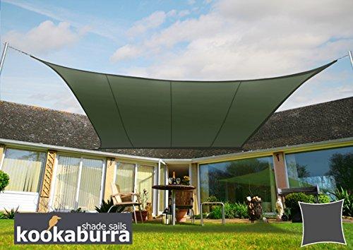 Kookaburra Wasserfest Sonnensegel 54m Quadrat Graugrün