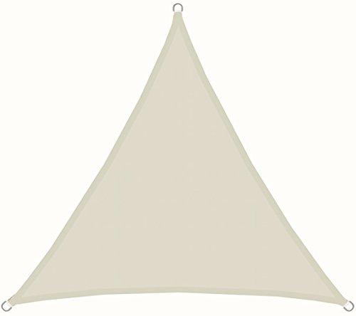 AMANKA UPF50 Sonnensegel 3x3x3m Polyester Dreieck Wasserabweisend UV-Schutz Stabiles Garten-Segel Terrasse Balkon Beige