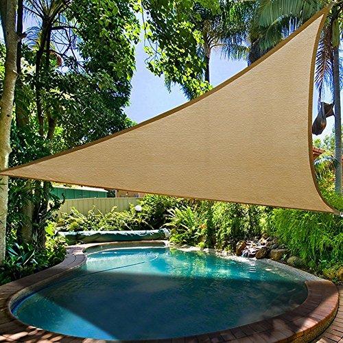 Jannyshop Sonnensegel Terrasse Sonnenschatten Segel-Baldachin Anti-UV zum Schwimmbad Outdoor Camping Einrichtung und Aktivitäten 36  36 Meter Sandgelb