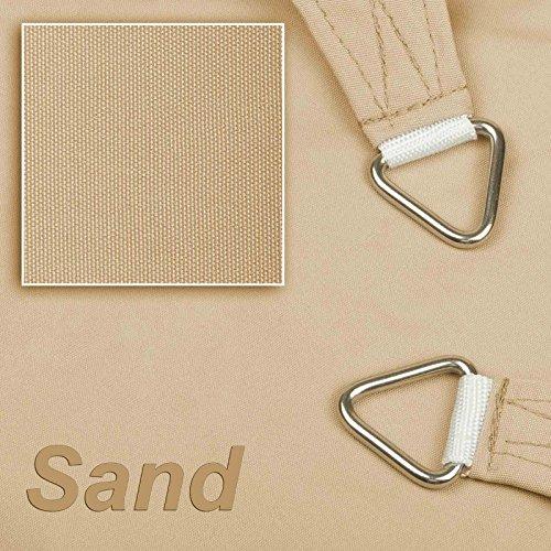 hanSe Marken Sonnensegel 100 Polyester - wasserabweisend Rechteck 2x3 m Sand