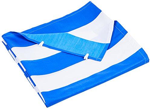 Floracord komplett mit der Seilspanntechnik Universal Senkrecht-Sonnensegel Blau-weiß 230x140 cm
