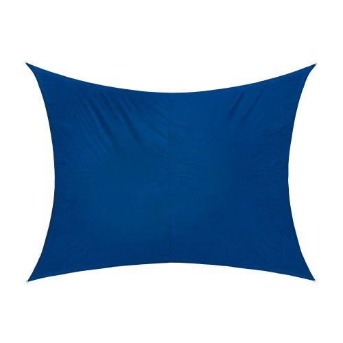 Jarolift Sonnensegel Rechteck wasserabweisend 300 x 200 cm azurblau