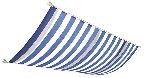 Windhager Sonnensegel für Seilspanntechnik Sonnenschutz Segel 270 x 140 cm ideal für Pergola oder Wintergarten BLAUWEISS 10811