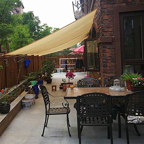 Frilivin Sonnensegel Rechteckig Sonnenschutz Garten UV Schutz Premium Schatten Tuch Markisen Beige 15x2m