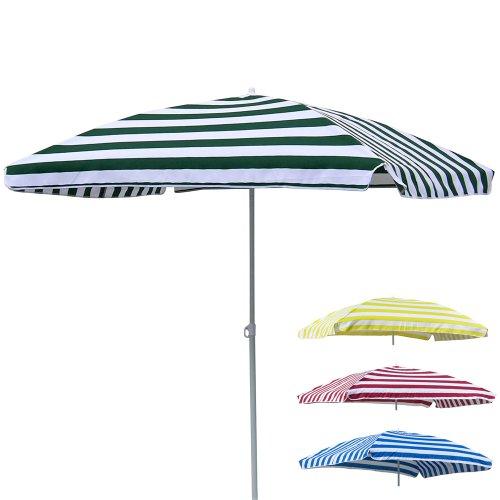Sonnenschirm rechteckig 120X180 cm knickbar langlebiges Polyester gelb • Strand Strandschirm Garten Schirm Sonnenschutz