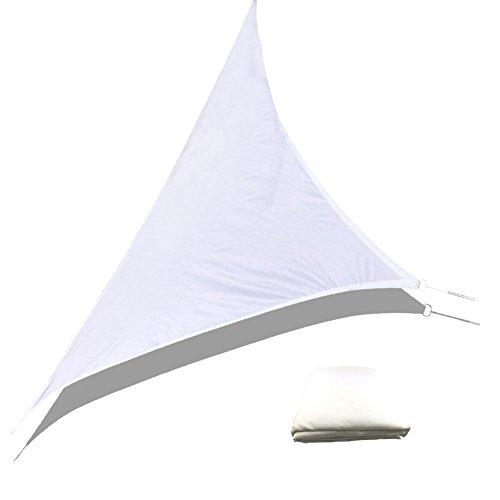 Sonnensegel SegelWasserdicht UV Schutz Triangle Sonnenschutz Canopy für Garten Terrasse3x3x3m