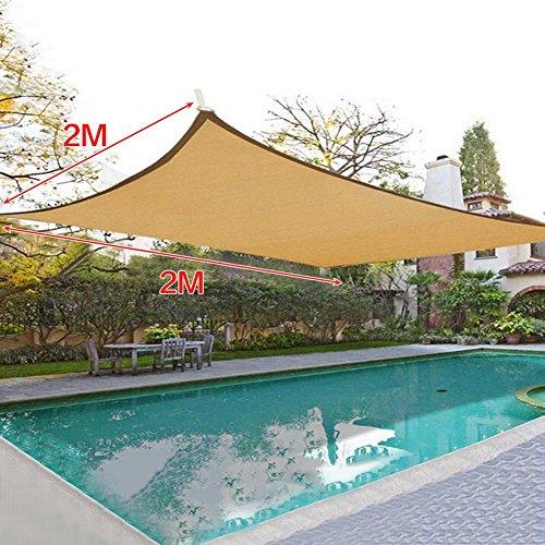 Sonnensegel Sonnenschutz Segel UV Schutz Garden Shade Net für Balkon Terrasse Garten 6-pin 2x2m