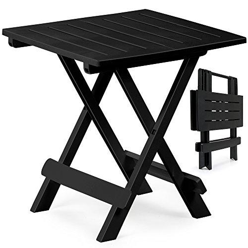 Klapptisch Adige Beistelltisch Campingtisch Gartentisch Tisch - schwarz