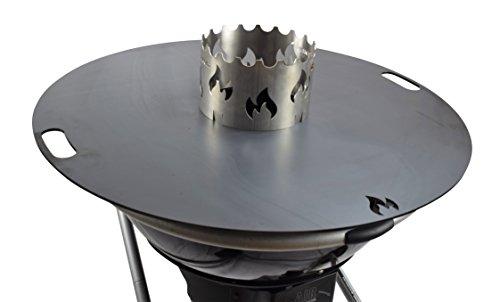 Grillrostcom Das Original Edelstahl Wokaufsatz für Feuerplatte Ø 20 cm - Verwenden Sie Ihren Wok auf der Feuerplatte