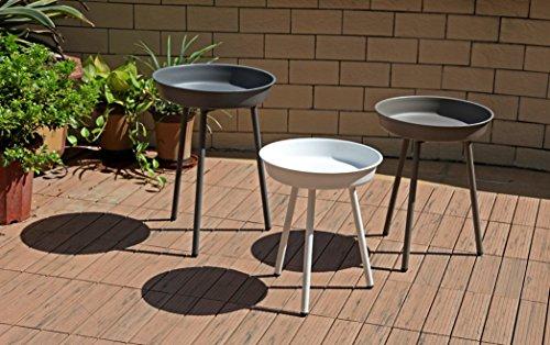 Jardinion Design-Beistelltische 3er-Set in versch Farben Garten Wohnung Nachttisch Möbel