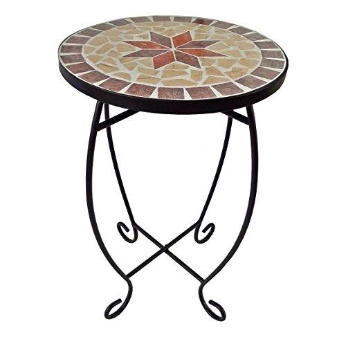 Blumenhocker mit Mosaik-Motiv - Blumentisch Pflanztisch Beistelltisch