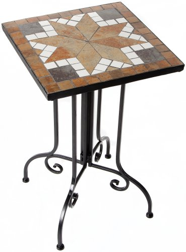 Giardino Mosaik-Beistelltisch Mehrfarbig 35x57x35 cm
