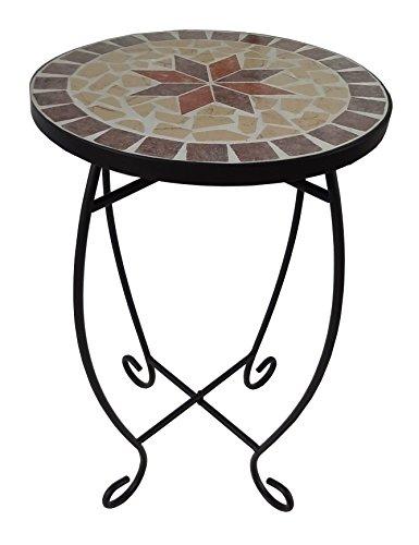 Mosaik Beistelltisch in Handarbeit gefertigt Modell AMBANG rund