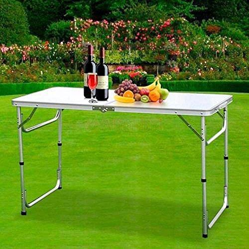 HUAYUU Aluminium Campingtisch Klapptisch Gartentisch Arbeitstisch Balkontisch 120x60x70cm Höhenverstellbar Tragbar Falttisch Gartentisch