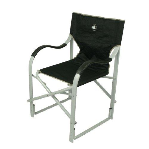 10T Alloydirector XL Aluminium Campingstuhl bequemer Klappstuhl Gartenstuhl mit gepolsterten Alu Armlehnen Angelstuhl in robuster Qualität