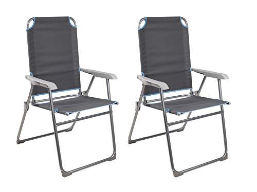 2er-Set Faltbarer Campingstuhl  Klappstuhl Sitzhöhe 44cm Belastbar bis 120kg Gewicht 424kg Campart Travel CH-0525