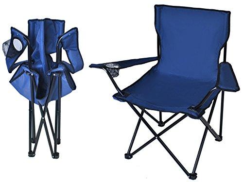 Iso Trade Anglerstuhl Faltstuhl Campingstuhl Klappstuhl Gartenstuhl Stuhl Sessel 5376 FarbeBlau