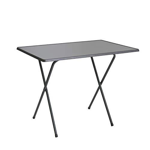 Scherentisch anthrazit klappbar als Campingtisch Gartentisch ca 60 x 80 x 64 cm anthrazit - witterungsbeständige Klapptisch als Beistelltisch