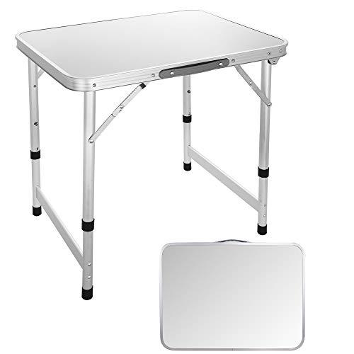 Ultrey Campingtisch Klappbar Aluminium Picknicktisch Klapptisch Camping Falttisch tragbar 60 x 45 x 55cm Nur 26kg