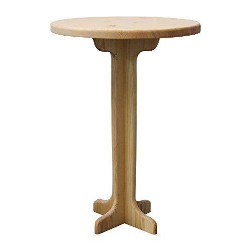 Elean Bartisch rund Stehtisch Massive Kiefer geölt Bistrotisch Holz Tisch Gartenmöbel