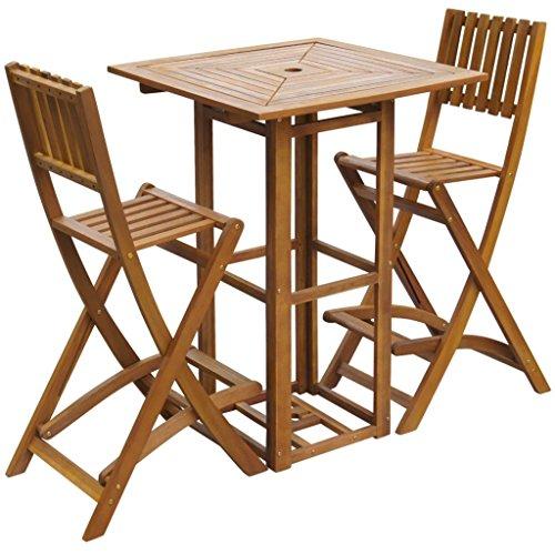 vidaXL Gartentisch Bartisch Stehtisch Bistrotisch Holztisch Tisch Akazienholz