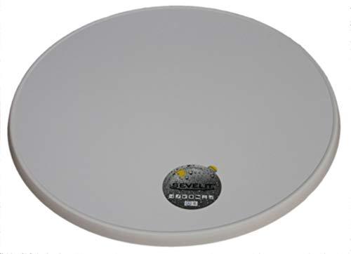 Sevelit Tischplatte Dekor weiß oder puntinella 70 cm rund wetterfest Ersatztischplatte Bistrotisch Stehtisch Tisch Gastronomie Weiß
