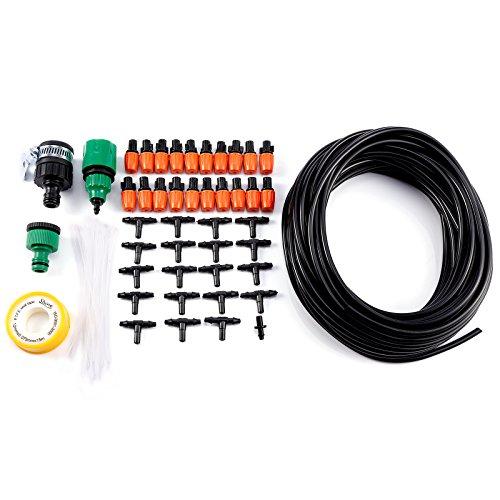Hamimelon 15M Micro Drip Bewaesserungssystem Troepfchen Terrasse Garten Wasserschlauch Sprinkler Schlauch
