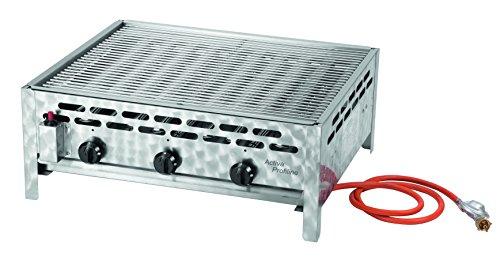Activa 3-flammiger Gastrobräter mit Grillrost Silber
