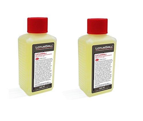 2x LotusGrill Brennpaste 200 ml Speziell entwickelt für den raucharmen HolzkohlegrillTischgrill