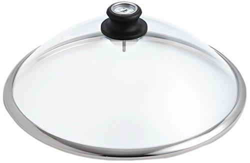 LotusGrill Glashaube aus Sicherheitsglas Speziell entwickelt für rauchfreien HolzkohleTischgrill Serie 340 transparent