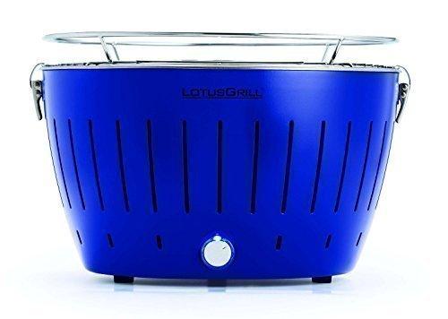 LotusGrill Ultramarinblau -Sonderfarbe Limited-Edition Weltweit nur 5555 Stk Der raucharme HolzkohlegrillTischgrill Garantiert die neueste Technik – Robuster langlebiger Edelstahlkohlebehälter