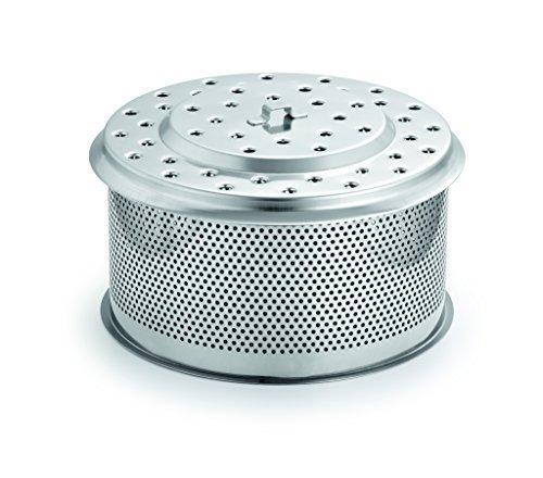 LotusGrill XL Ersatz Edelstahl-Kohlebehälter XL Speziell entwickelt für den raucharmen HolzkohlegrillTischgrill