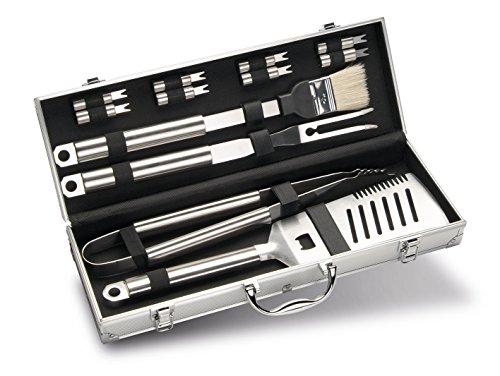 Enders Grillbesteck-Set aus Edelstahl im Alukoffer 8408 12-teilig BBQ Grill-Zubehör Besteck Koffer aus Aluminium