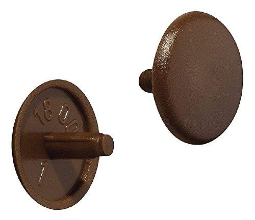Gedotec Schrauben-Kappe rund Schrauben-Abdeckungen Kunststoff Verschluss-Stopfen braun  H1115  für Kopflochbohrung PZ2  Ø 12 x 25 mm  20 Stück