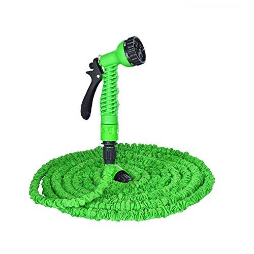 YFZYT Gartenschlauch Flexible 100ft 30m Wasserschlauch Set Erweiterbar Magic Garden Schlauch Dehnbar für Bewässerung Autowäsche Haus Spülen Pet-Bäder 7 Funktionen Sprühpistole - Grün