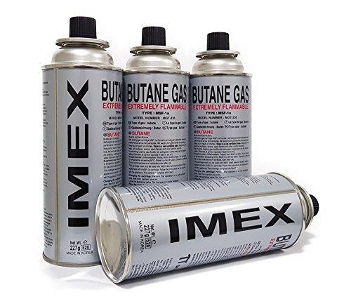 IMEX 28 Stück Gaskartuschen für Gaskocher Butan Gas MSF-1a 227g