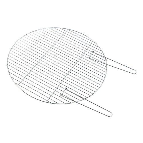Homescapes abnehmbarer Grillrost mit Handgriffen für Feuerschalen 60cm Durchmesser