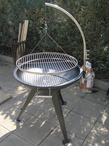 XXL BBQ Schwenkgrill Grill Edelstahl  Feuerschale 80 cm Grillrost 70 cm Rost