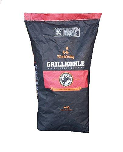 10 Kg Steakhousekohle von BlackSellig reines Quebracho BLANCO Holz Grillkohle - perfekte Restaurantqualität -REACH registrierte Holzkohle