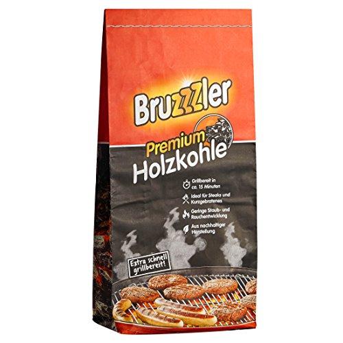 Bruzzzler 10 kg Premium Restaurant-Holzkohle Grillkohle grobstückig FSC-zertifiziert hochwertige Kohle zum Grillen